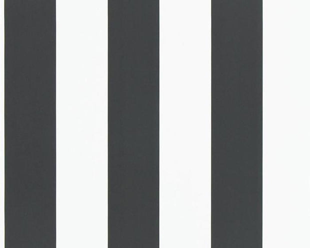 Ralph Lauren Spalding Stripe - Black / White PRL026/09 Wallpaper