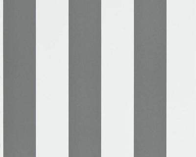 Ralph Lauren Spalding Stripe - Grey / White PRL026/12 Wallpaper