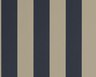 Ralph Lauren Spalding Stripe - Navy / Sand PRL026/13 Wallpaper