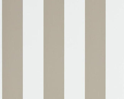 Ralph Lauren Spalding Stripe - Sand / White PRL026/15 Wallpaper
