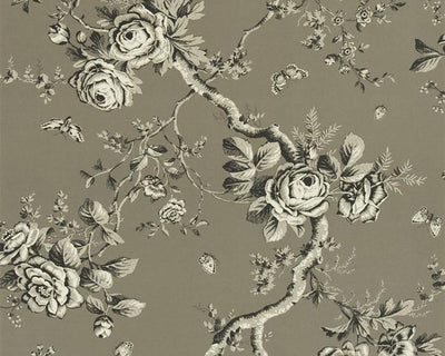 Ralph Lauren Ashfield Floral - Gun Metal PRL027/04 Wallpaper