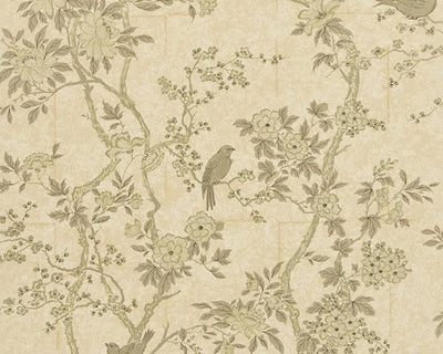 Ralph Lauren Marlowe Floral - Mother of Pearl PRL048/06 Wallpaper