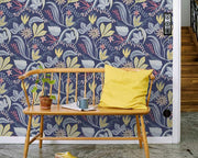Sandberg Saro Dark Blue 419-86 Wallpaper