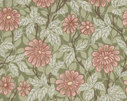 Sandberg Zinnia Green 426-68 Wallpaper