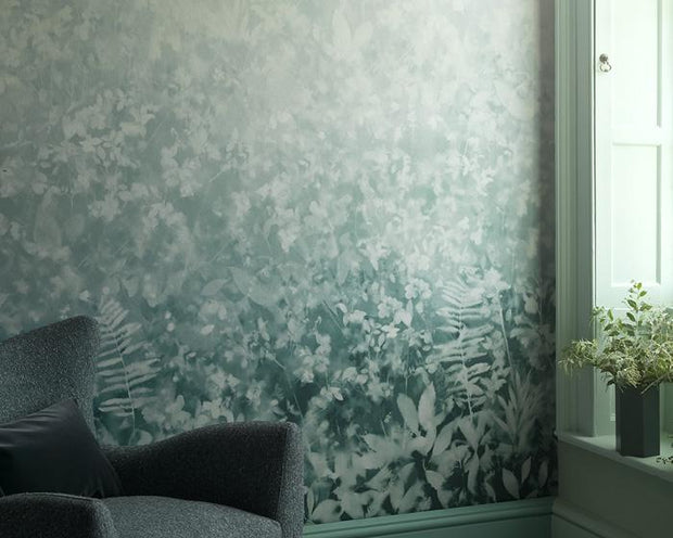 Paint & Paper Library Folia Teal Wallpaper