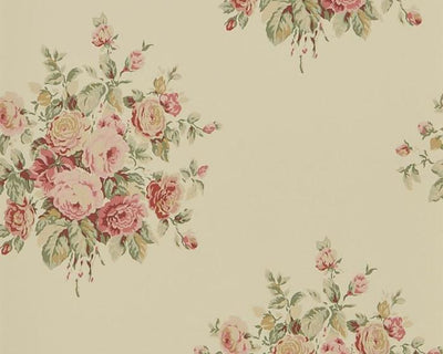 Ralph Lauren Wainscott Floral - Tea PRL707/06 Wallpaper