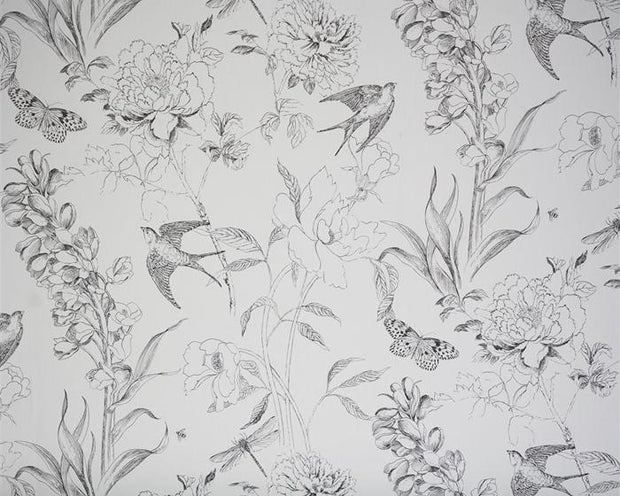 Designers Guild Sibylla - Black and White PDG721/03 Wallpaper