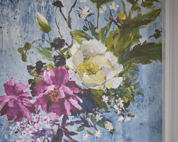 Designers Guild Aubriet - Slate Blue PDG717/03 Wallpaper