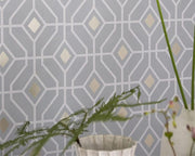 Designers Guild Laterza Graphite PDG1026/05 Wallpaper