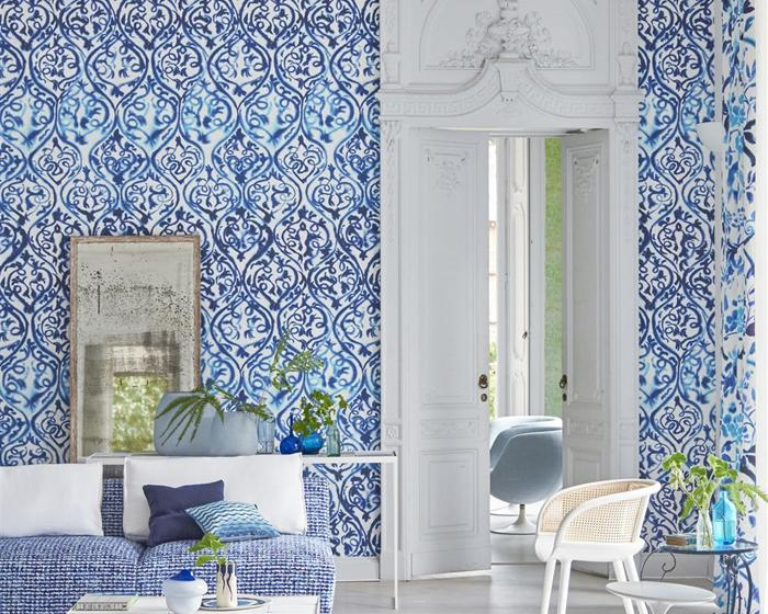 Designers Guild Arabesque Cobalt PDG1029/01 Wallpaper