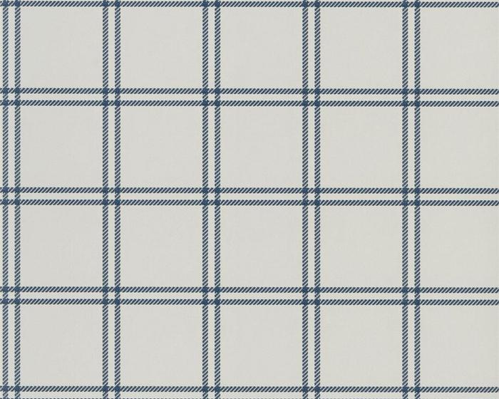 Ralph Lauren Shipley Windowpane Indigo PRL5001/01 Wallpaper