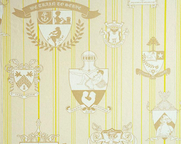 Barneby Gates Carpe Noctem in Lime Wallpaper BG0100202