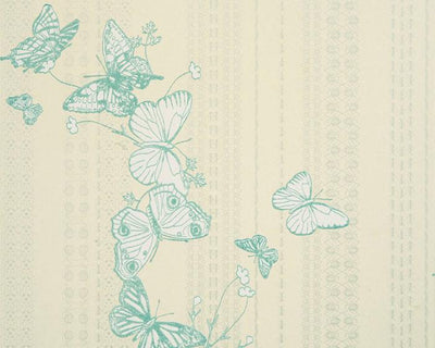 Barneby Gates Bugs & Butterflies in Ice Blue Wallpaper BG0100302