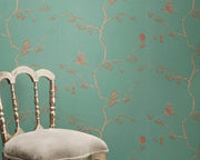 Barneby Gates English Robin in Jade Wallpaper BG0300101