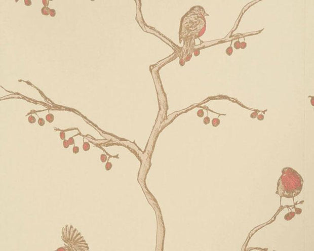 Barneby Gates English Robin in Parchment Wallpaper BG0300102
