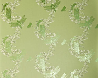Barneby Gates Dragonfly in Apple Green Wallpaper BG0600202