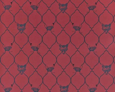 Barneby Gates Fox & Hen in Brick Wallpaper BG0900101