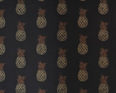 Barneby Gates Pineapple in Charcoal/Gold Wallpaper BG1200202