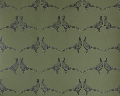 Barneby Gates Pheasant in Camo Green Wallpaper BG1500101