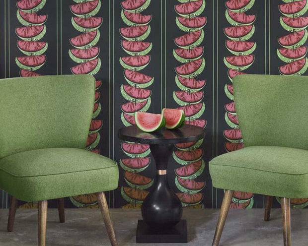 Barneby Gates Watermelon in Charcoal Wallpaper BG1800101