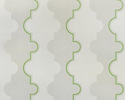 Barneby Gates Jigsaw Stripe in Green Wallpaper BG1800202