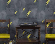 Barneby Gates Bolt From Mars in Yellow/Charcoal Wallpaper BG1900101