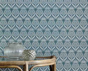 Barneby Gates Artichoke Thistle in Teal Wallpaper BG1900201