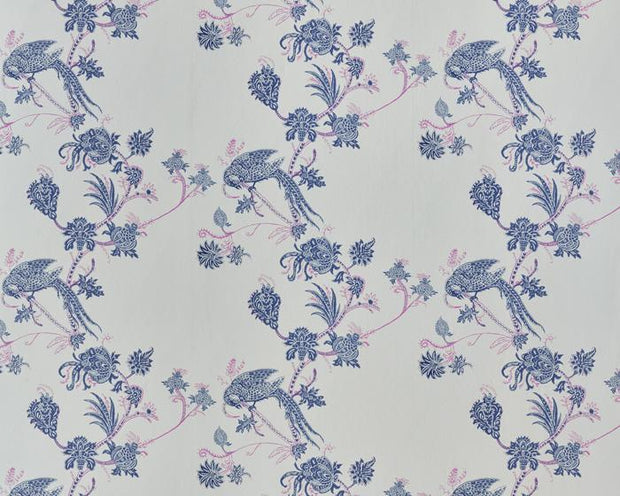 Barneby Gates Vintage Bird Trail in Blue/Pink Wallpaper BG2100201