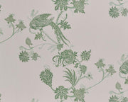 Barneby Gates Vintage Bird Trail in Pink/Green Wallpaper BG2000102