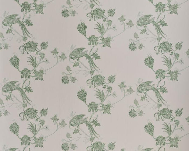 Barneby Gates Vintage Bird Trail in Pink/Green Wallpaper BG2100201