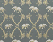 Barneby Gates Elephant Palm in Gunmetal/Gold Wallpaper BG2100201