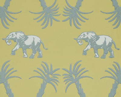 Barneby Gates Elephant Palm in Ochre/Blue Wallpaper BG2100202