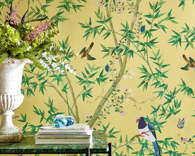 Little Greene Belton Scenic Sunbeam 0293ASISLAN Wallpaper