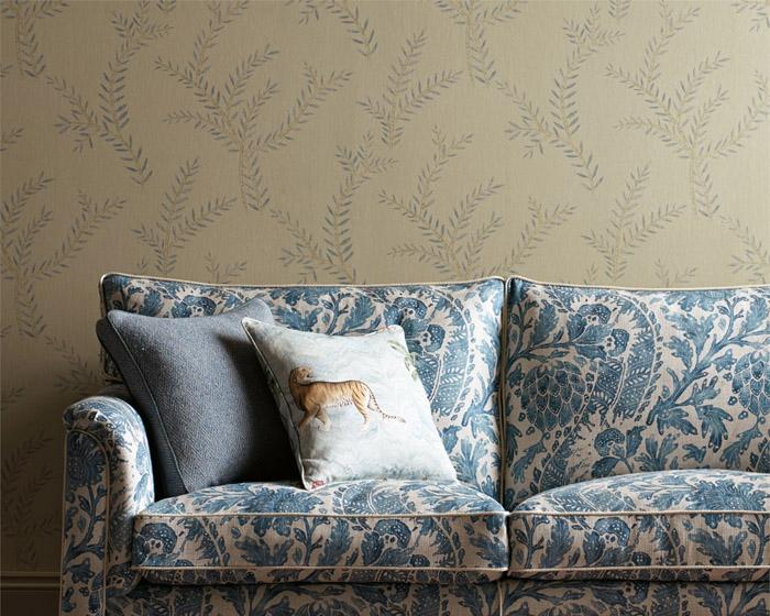 Zoffany Palme Stockholm Blue 311718 Wallpaper