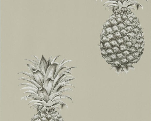 Sanderson Pineapple Royale Charcoal/Champagne 216323 Wallpaper