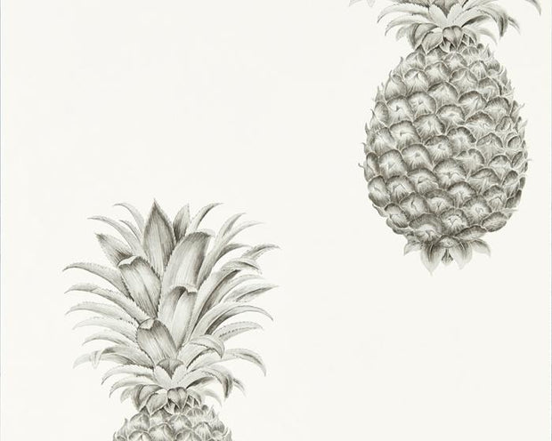 Sanderson Pineapple Royale Silver/Ivory 216324 Wallpaper
