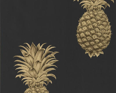 Sanderson Pineapple Royale Graphite/Gold 216326 Wallpaper