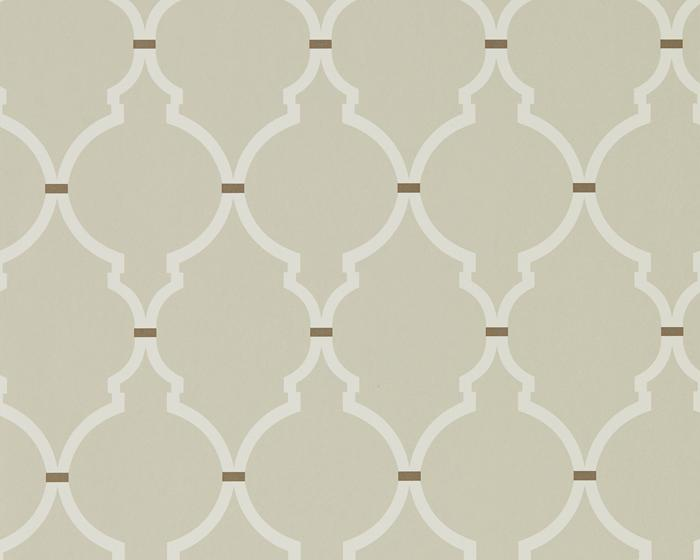 Sanderson Empire Trellis Linen/Cream 216337 Wallpaper
