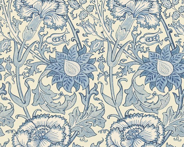 Morris & Co Pink & Rose Indigo 212567 Wallpaper