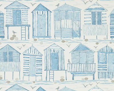 Sanderson Beach Huts Marine 216560 Wallpaper