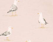 Sanderson Shore Birds Blush 216562 Wallpaper