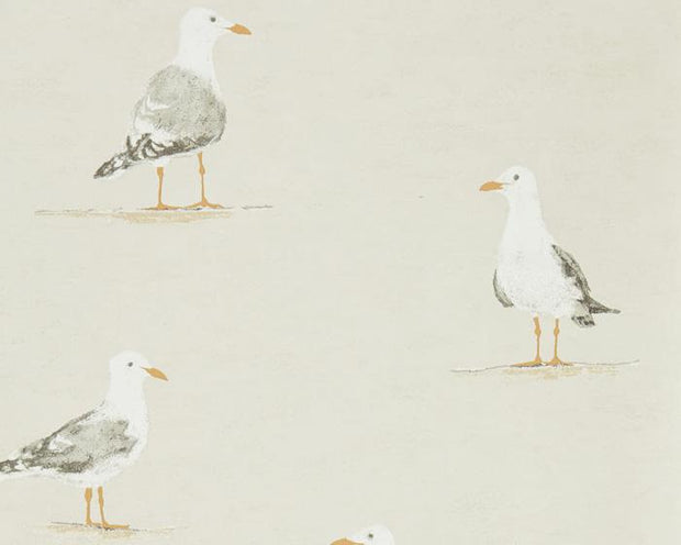 Sanderson Shore Birds Driftwood 216563 Wallpaper