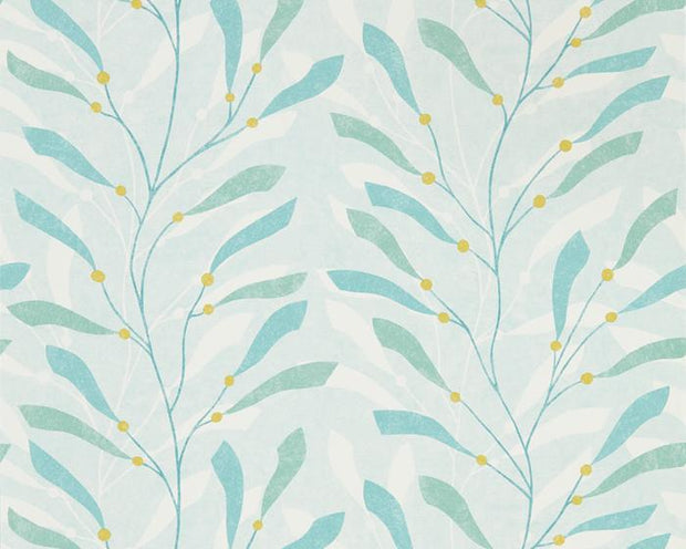 Sanderson Sea Kelp Aqua/Lichen 216566 Wallpaper