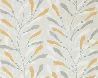Sanderson Sea Kelp Ochre/Slate 216568 Wallpaper