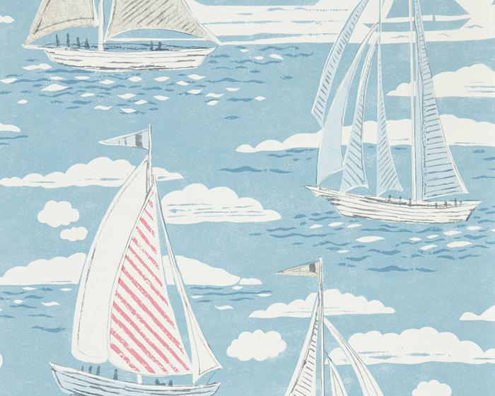 Sanderson Sailor Nautical 216572 Wallpaper