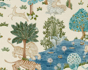 Sanderson Caspian Pamir Garden Cream/Nettle 216766 Wallpaper