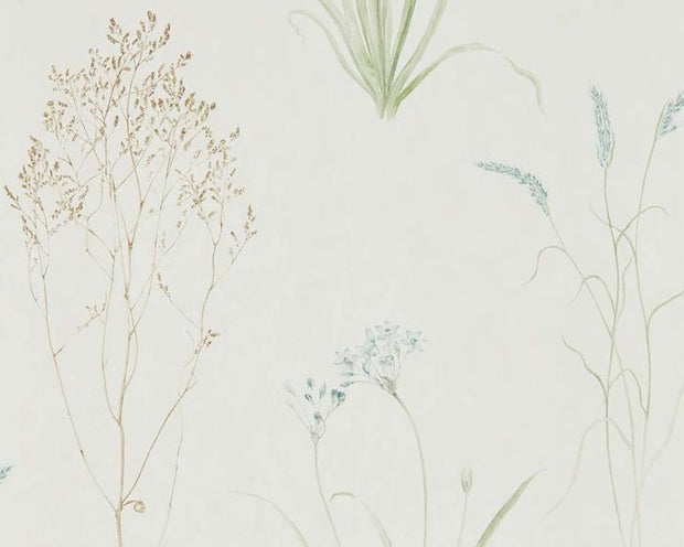 Sanderson Farne Grasses Cream/Sage 216486 Wallpaper