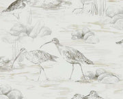 Sanderson Estuary Birds Chalk/Sepia 216493 Wallpaper