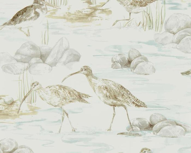 Sanderson Estuary Birds Mist/Ivory 216494 Wallpaper