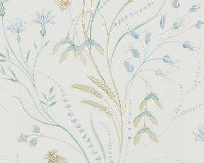 Sanderson Summer Harvest Cornflower/Wheat 216496 Wallpaper